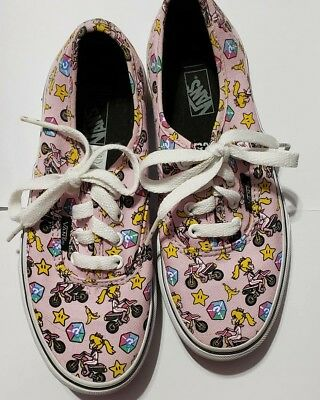 8ea92727d22 Nintendo Super Mario Kart VANS Size 2.5y Authentic Unisex Princess Peach  Shoe