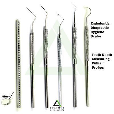 Examination Dental Periodontal William Probes Michigan Color Coded Marking Tools