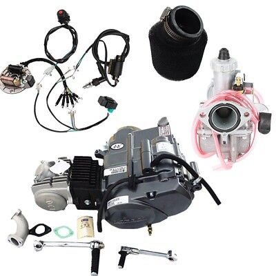 lifan 125cc engine kick start motor +wire harness + carby +air filter xr50  crf50