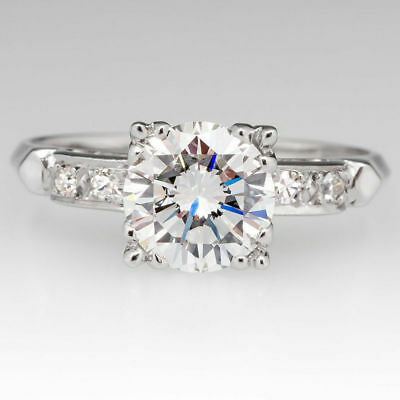 Certified 2.40 Ct Round Cut Solitaire Diamond Engagement Ring 14K White Gold