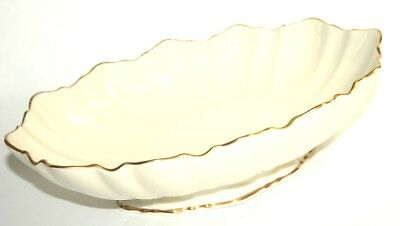 Lenox Centerpiece Symphony 24 K Gold Trim Oval Bowl NEW! Hand Numbered: 4