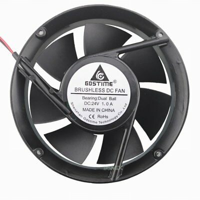 172mm x 51MM 24V Ball Bearing Brsuhless Axial Exhasut Industry Cooling Round Fan