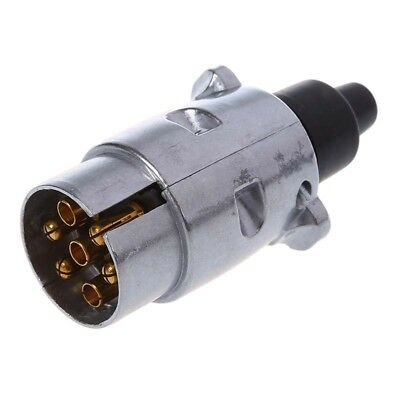 7-Pin Trailer Plug Heavy Duty Round Pin 7-Pole Wiring Connector 12V Towbar To I3