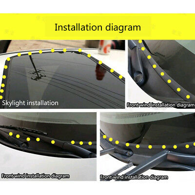 """5M 196"""" Waterproof Rubber Seal Weather Strip Trim For Car Front,Rear Windshield"""