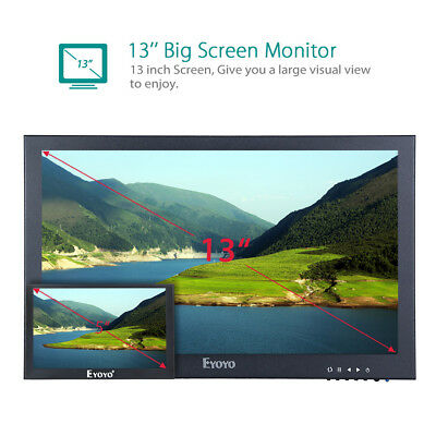 "Monitor HDMI IPS da 13 ""Display IPS-LCD 1920x1080 Uscita BNC / VGA / AV per CCTV"