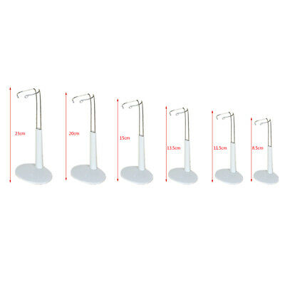 6 pcs Adjustable Plastic Doll Display Holder Bear Support Stand Accessories