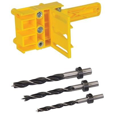Dowel Drill Set For Pocket Hole Jig 6, 8 & 10Mm Carpenters Joint Tool H7Z7