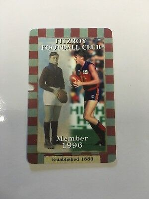 1996 Fitzroy Football Club Membership Card - Final Year In Afl