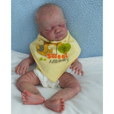Hand Painted 22inch Reborn Kits Newborn Baby Doll with Head 3/4 Arms Legs