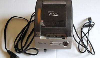 Brother P-Touch QL-500 Thermal Printer with USB Cable and partial label roll