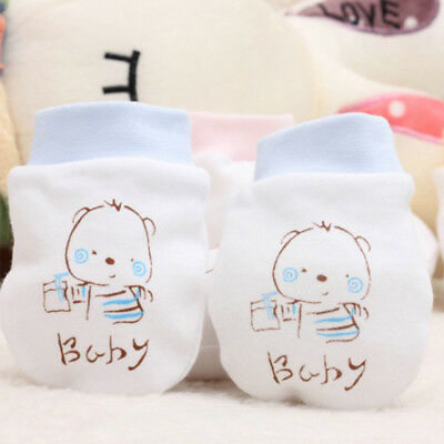 1 Pair Exquisite Anti-grasping Gloves Pretty Safety Protection Face Baby Mitten