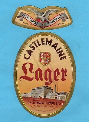 Castlemaine  Perkins  Limited.  Brisbane.  Australia.     Castlemaine  Lager.
