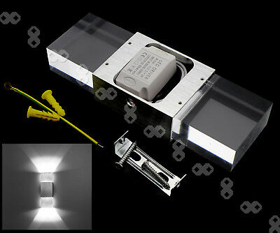 831e2717c7ba 6W LED Wall Light Up and Down Indoor Living Room White Sconce Lamp Aluminum