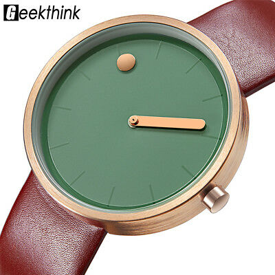 Fashion Women Simple Dial Watch Faux Leather Analog Quartz Wristwatch On Sale