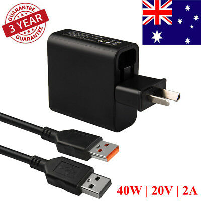 40W 20V 2A AC Adapter Power Charger for LENOVO Yoga 3 Pro 1370 1470 Fast AU