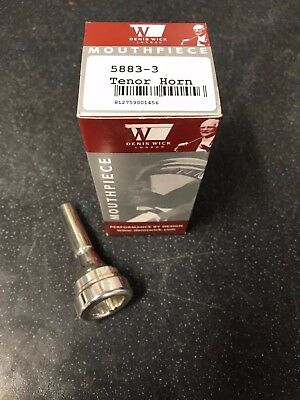 Denis Wick 3 Eb Tenor Horn Mouthpiece-New,Unused Silver Plated-