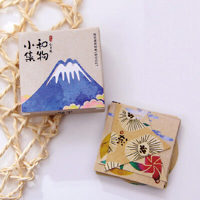 40pcs vintage japanese paper decorative label adhesive scrapbooking sticker XM