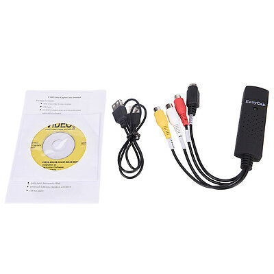 EasyCap USB 2.0 cable audio video VHS a DVD Convertidor capturar  tarjeta  XM