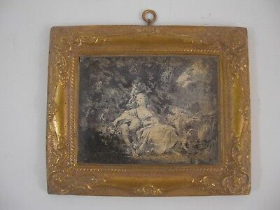 Francois Boucher Sepia Print Gold Gilt Frame French Victorian Grand Tour Style