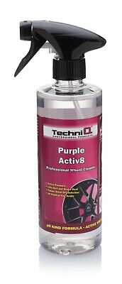 PURPLE ACTIV8 Alloy Wheel Cleaner WHICH TURNS PURPLE TELLS YOU WHEN TO WASH OFF