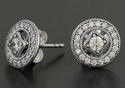 Pandora Vintage Allure Stud Earrings Genuine S925 ALE