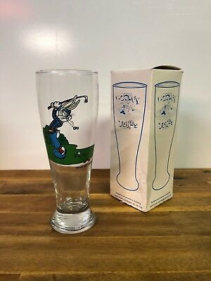Vintage Official Looney Tunes Bugs Bunny Golf Glass 1994 Warner Brothers Retro