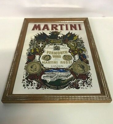 Vintage Martini Rossi Vermouth Advertising Bar Mirror