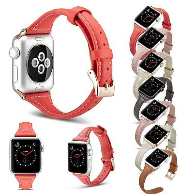 For Apple Watch Leather Strap Wrist Band Series 4 3 2 1 38/40mm 42/44mm iWatch