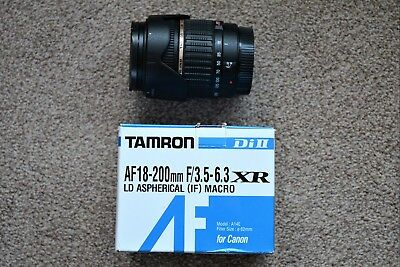 Tamron 18-200mm F/3.5-6.3 Aspherical (IF) for Canon EF-S - See Description