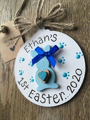 Personalized Baby First Easter Keepsake Plaque
