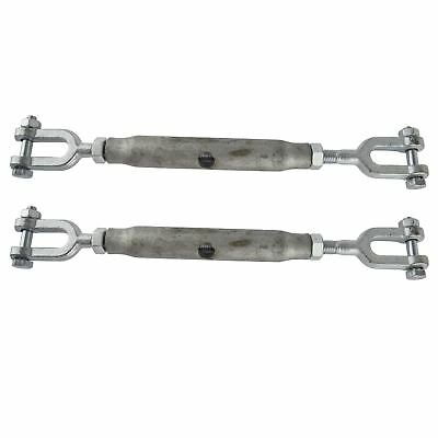 Rigging Screw 8mm Galvanised Jaw to Jaw 2 PACK Turnbuckle Straining DK66