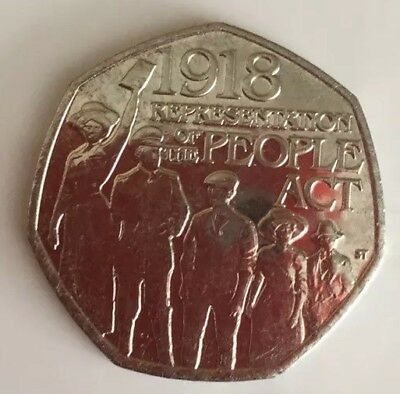 2018 The People Act 1918 50p coins Fifty Pence Coin From Bank Sealed Bags