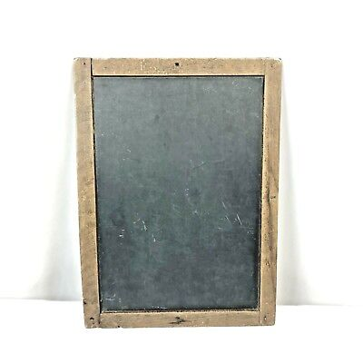 Antique Slate Primitive Vintage School Chalkboard dovetailed Wood double sided