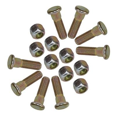 "Pack of 8 3/8"" UNF Wheel Studs And Nuts For 4"" PCD Trailer Suspension Hubs"