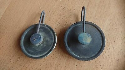 Longcase grandfather 8 day clock pulleys matched  pair  parts spares