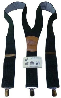 Green Wild Boar HUNTING Trouser Braces Mens Suspenders with 2 Pockets bandolier