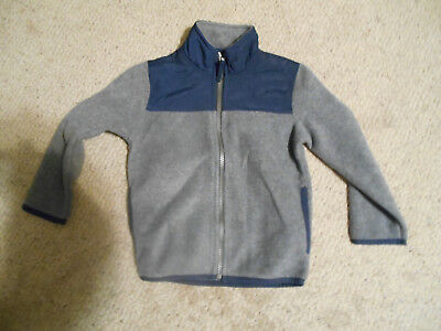 Children's Place toddler boys size 3t blue/grey fleece jacket