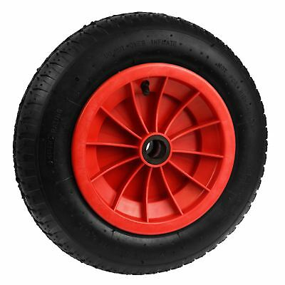 "14"" Red Wheelbarrow Wheel Tyre Launching 3.50 - 8 Light Weight 4ply TE633"