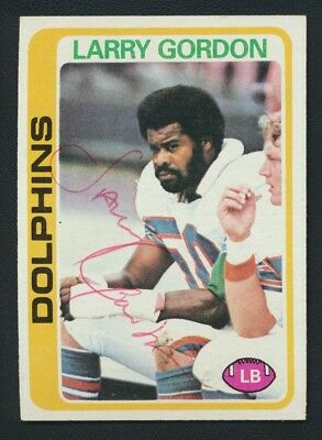 1978 Topps #202 Larry Gordon (d.1983) Autograph Signed Arizona State Dolphins