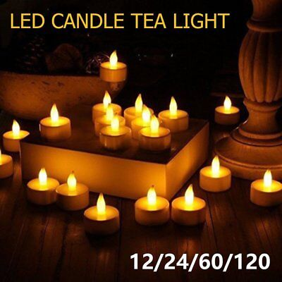 New Candles Tealight Led Tea Light Flameless Flickering Wedding button Friendly!