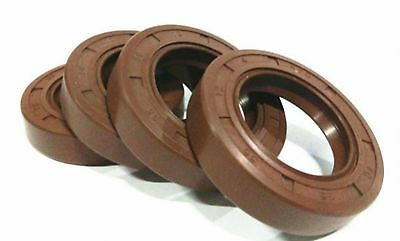 Select Size ID 16 - 20mm TC Double Lip KFM Oil Shaft Seal with Spring [CAPT2011]