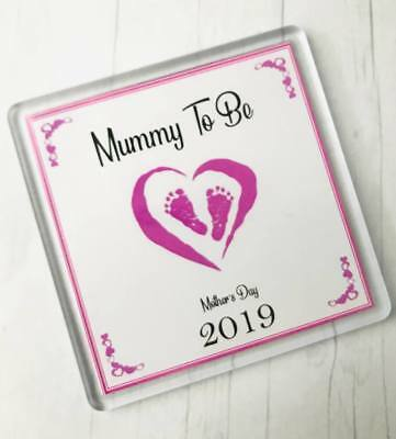 Mummy To Be 2019 Coaster Gift MTB101 Baby Thank You Best Mum Mom Mother Day