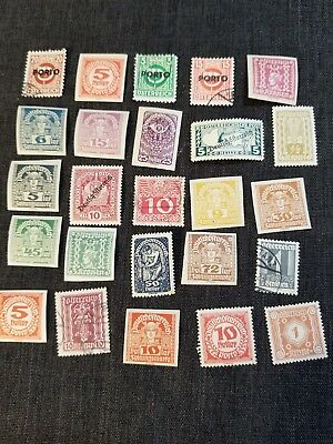Austrian Postage Stamp Lot of 25 Vintage Stamps, Used, 121207