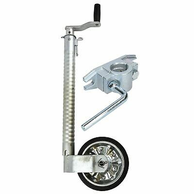 48mm Ribbed Jockey Wheel for Trailer with Cast Clamp 48mm_RIB_TR021