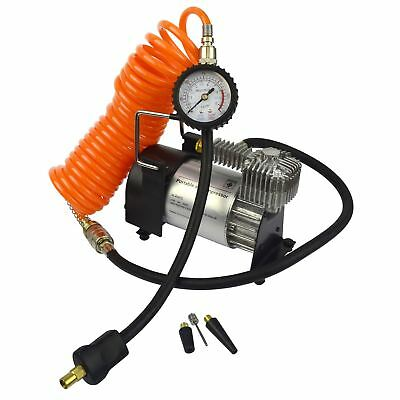 12v Heavy Duty Electric Air Compressor Portable Tyre Inflator Clip Battery TE33