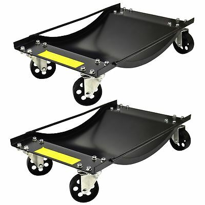 PAIR Wheel Dollies Skate Car Van Positioning Trolley 450kg Recovery Jack TE429
