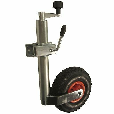 Heavy duty pneumatic jockey wheel and clamp (48MM)TR005