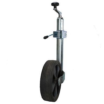 48mm Trailer Jockey Wheel with 210mm Solid Rubber Wheel and Split Clamp
