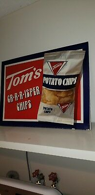Tom's Potato Chips Sign