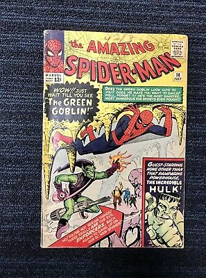 Amazing Spider-Man #14 First Appearance of Green Goblin, Hulk Cross Over